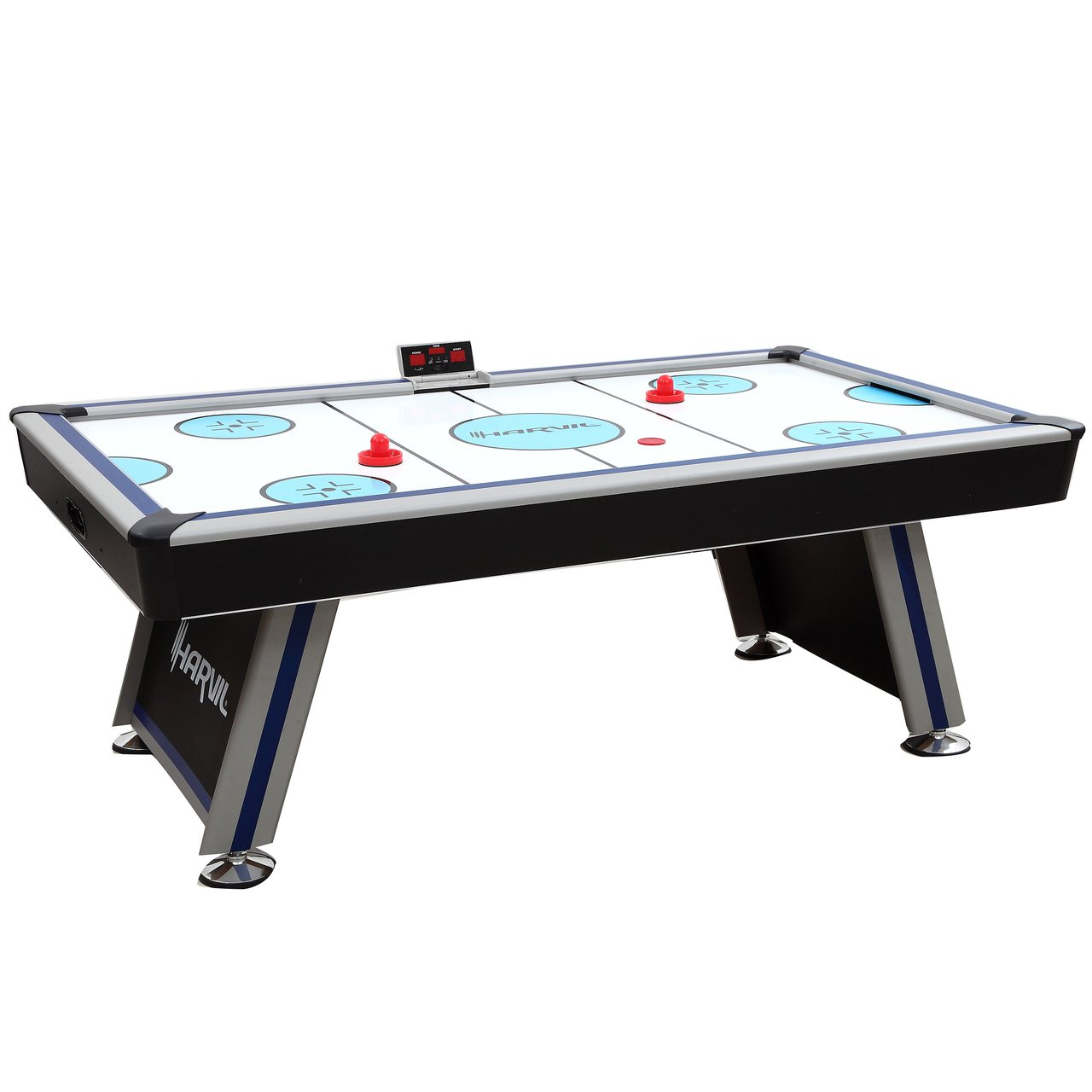 Harvil 7 Foot Air Hockey Game Table Full Size for Kids and Adults with Powerful Dual Electric Blowers, Paddles and Pucks