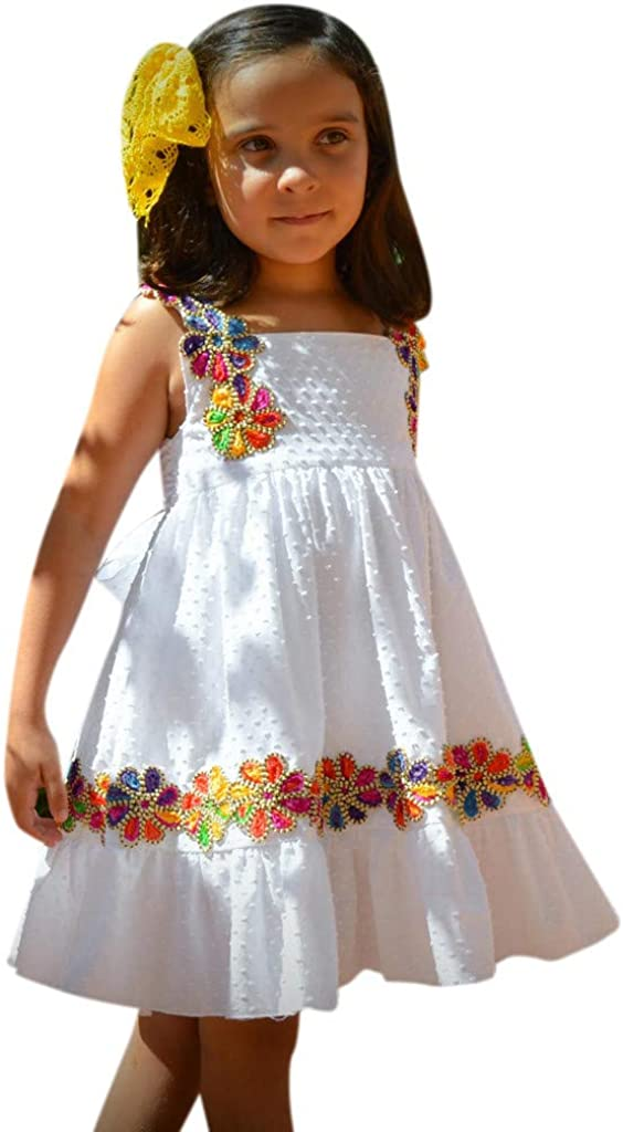 Infant Toddler Baby Kid Girl Ruched Lace Floral Tulle Dress Sweet Princess Dress