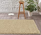 Adgo Chester Shaggy Collection Solid Vivid Color High Soft Pile Carpet Thick Plush Fluffy Furry Children Bedroom Living Dining Room Shag Floor Rug, Camel, 8'1 x 10'3''