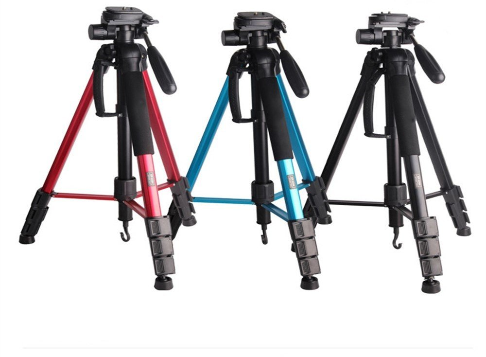Portable Aluminum SLR Camera Tripod, Removable Monopod, Outdoor Travel Tripod, Panoramic Shot Stand,red by ZQ