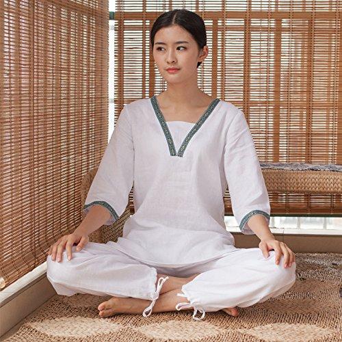 De Pizzi Mujeres Otoño Ropa Para Traje Yoga Leche Blanco Y Yoga Qsheulx Invierno Xl Hq5w1nfO