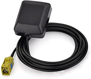 Eightwood Mini Satellite Radio Antenna Fakra K Curry Female Connector Compatible with Sirius XM Car Vehicle Trucks RV HD Hi-Fi Radio Stereo Receiver Tuner 2320-2345MHz