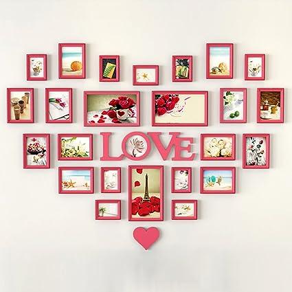 Galería de fotos Pared de la foto en forma de corazón pared europea ...