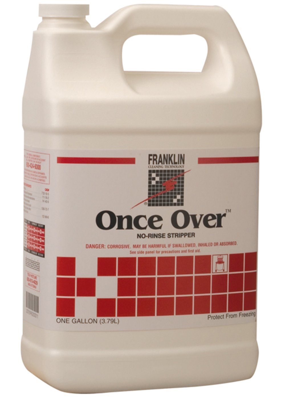 Franklin Cleaning Technology F200022 Once Over No-Rinse Floor Stripper, 1 Gallon (Pack of 4)