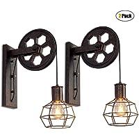 iDEGU 2 Piezas Vintage Lámparas de Pared Industrial