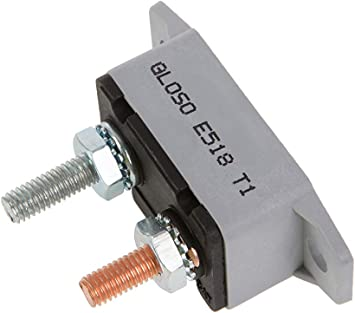 Auto Reset - 1 Pack Lengthwise Bracket T1 GLOSO E518 Stud Type Circuit Breakers 5A