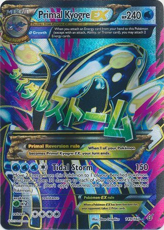 Pokemon Primal Clash Primal Kyogre-EX - 149 160 - Full Art Ultra Rare