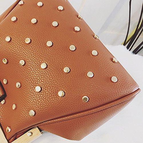Sac élégant Main Brown Bag Simple Et Bandoulière Messenger à Sac DHFUD Pour Femme Diamant à wRpR1ZqX