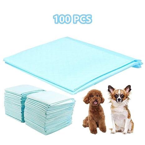 Homgrace 100 Unidades Empapadores de Entrenamiento para Perros Gatos Toallitas de Mascotas 60 x 45 CM