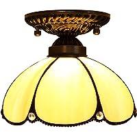 Yool Lámpara De Techo De Estilo Tiffany, Cristal