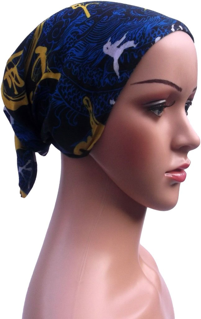 Unisex Multifunctional Bandana// Headwear Piece//Scarf Ponytail Holder Soft Durable Polyester Cotton Microfiber Polyester Sweat Absorbent Neck Gaiter Beanie Cap - Wristband Breathable Seamless Sports Tube Balaclava Neckerchief Headband