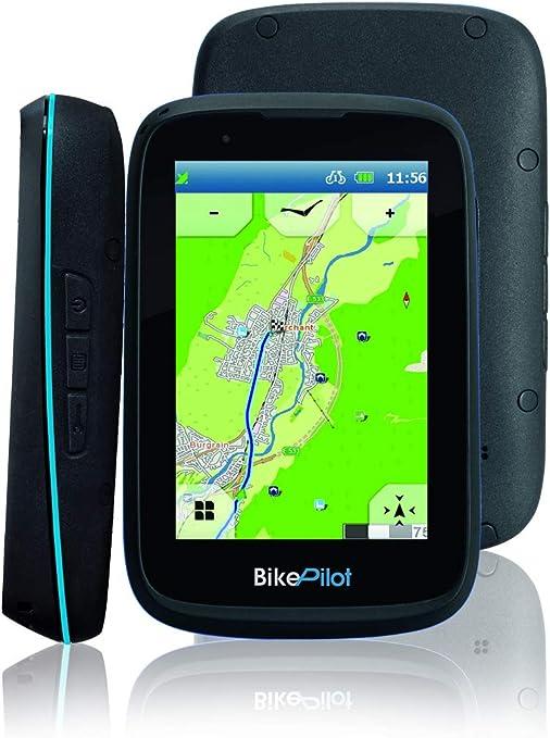 BikePilot ²+ Blaupunkt Bicicleta,Bicicleta,Senderismo,Sistema de navegación GPS al Aire Libre,Pantalla capacitiva de 3,5 Pulgadas,45 países Europeos,Función de Circuito,Brújula electrónica,Geocaching: Amazon.es: Deportes y aire libre