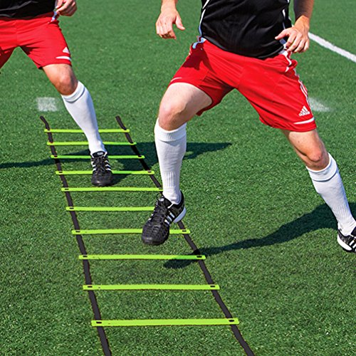 Wellsem Durable 7 rungs 3.5m Speed Agility Ladder for Soccer Football Speed Exercise Training with Free Carry Bag
