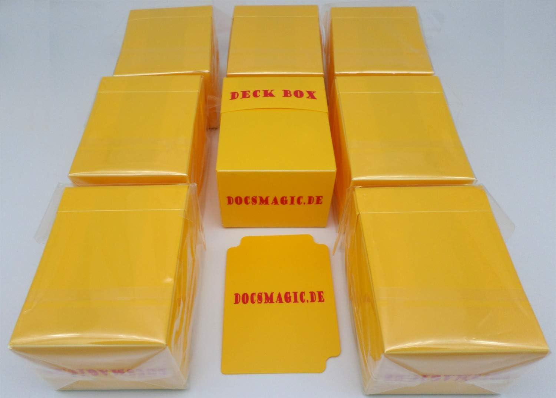 docsmagic.de 8 x Deck Box Yellow + Card Divider - Caja Amarillo - PKM - YGO - MTG: Amazon.es: Juguetes y juegos