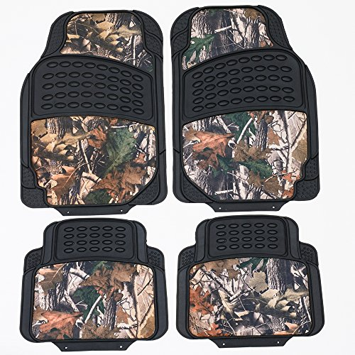 - TanYoo Durable Camouflage Car Floor Mats, All Weather Protection, Rubber Heavy Duty Auto Mats Trimmable Cars/Vans/Suvs (4 PCS)
