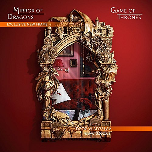 FRAME FOR A MIRROR DRAGONS WOOD CARVED 3D GAME-OF-THRONES