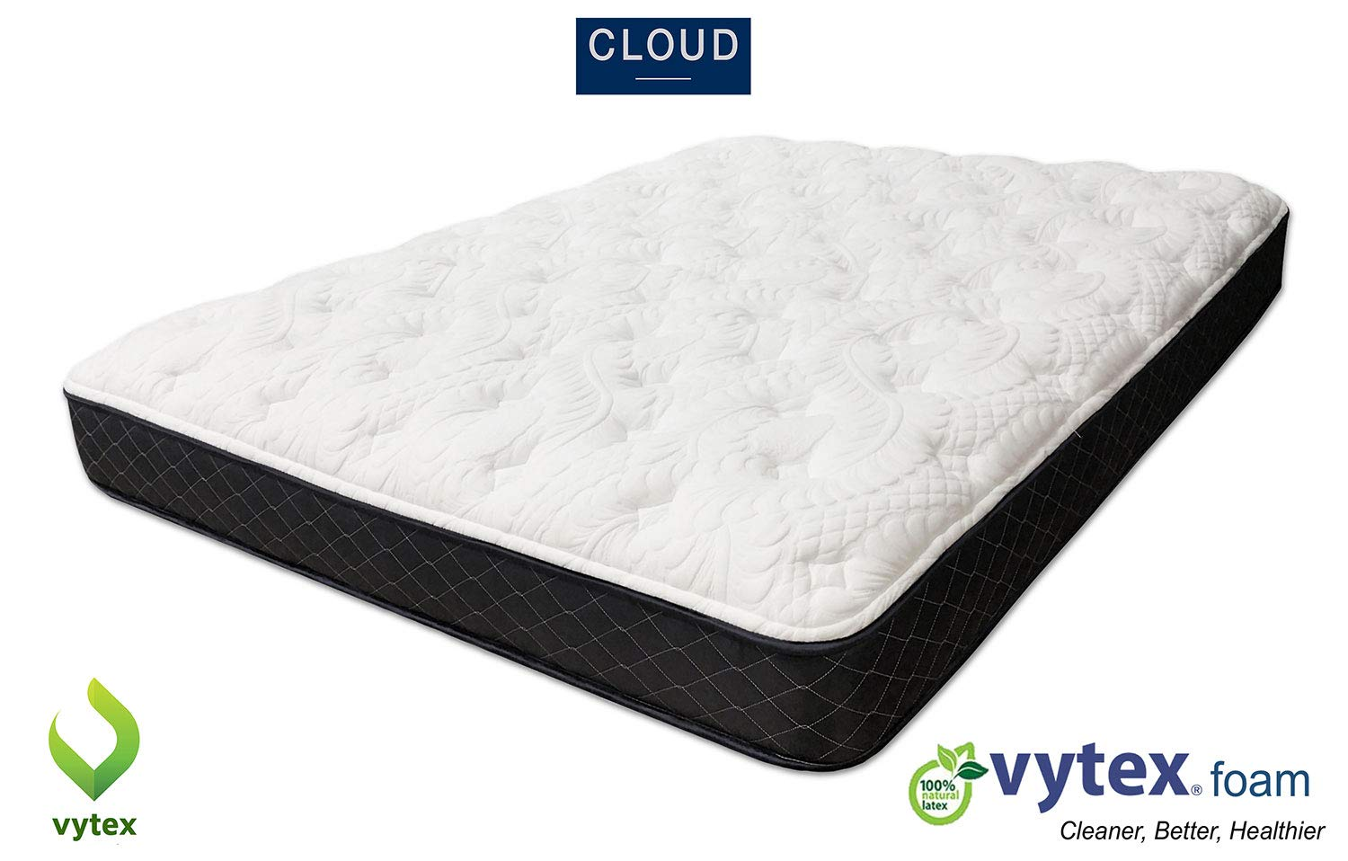 Vytex King 10 1/2 Inch Latex Cloud Mattress, Cushion Firm, Purchase Includes Free $200 Vytex Topper Shipped After 7 Sleeping Nights, Choice of 4 Comfort Levels, Making a Custom Bed Worry Free Returns by Vytex