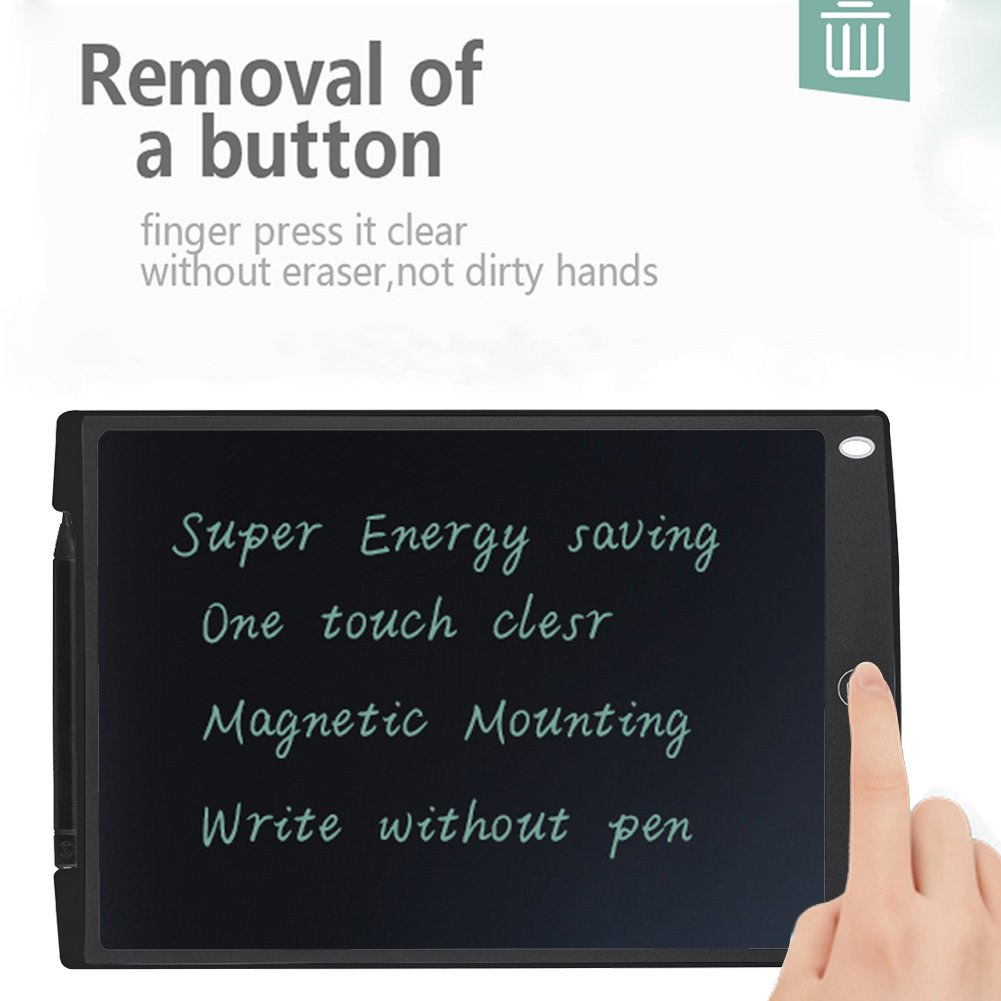 Edal 12-Inch LCD Writing tablet Drawing board gifts for kids office writing memo board,LCD eWriter (Black)