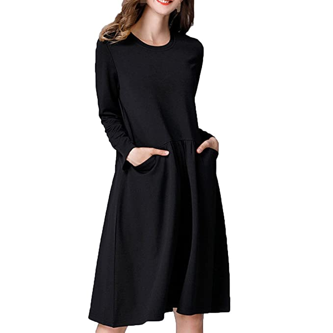 De Gran Tamaño Vestidos De Las Mujeres Las Mujeres Embarazadas Sueltos Añadir Fertilizantes Vestidos,Black