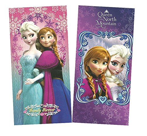 Disney Frozen Elsa & Anna Cotton Beach Towel Set (30 x 60 Inches)