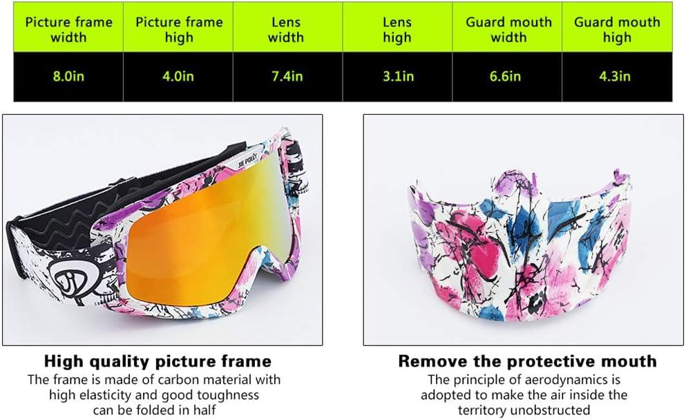 YY-Motorcycle goggles Gafas de Moto con m/áscara Desmontable Gafas de Moto a Prueba de Viento antiniebla Gafas de m/áscara Facial Gafas de Motocross