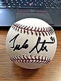 Julio Santana Autographed Baseball - OML ! Rangers Devil Rays ! - Autographed Baseballs