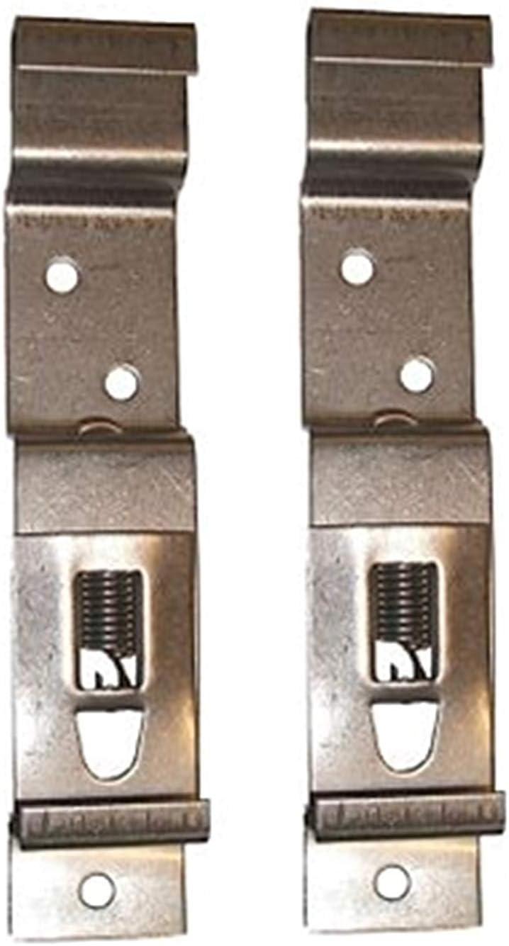 Numero de placa. Lmx1867 Paquete de 2 Plata Leisure Mart Soporte de placa de matr/ícula de acero inoxidable con sistema de resortes
