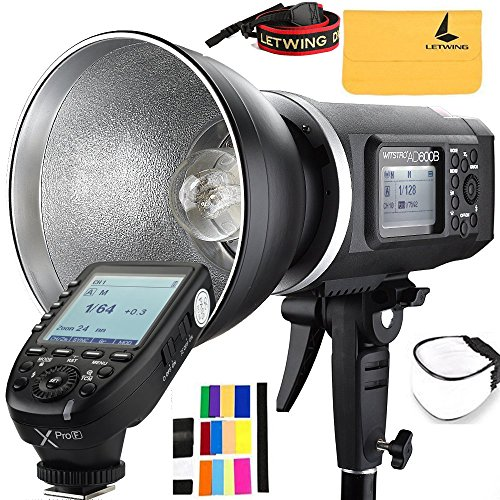 Godox AD600B TTL Bowen Mount GN87 600W HSS 1/8000s 2.4G Wireless with 8700mAh Lithium Battery Outdoor Studio Strobe Flash,Godox XPro-F Flash Trigger for Fuji Camera by Godox (Image #9)