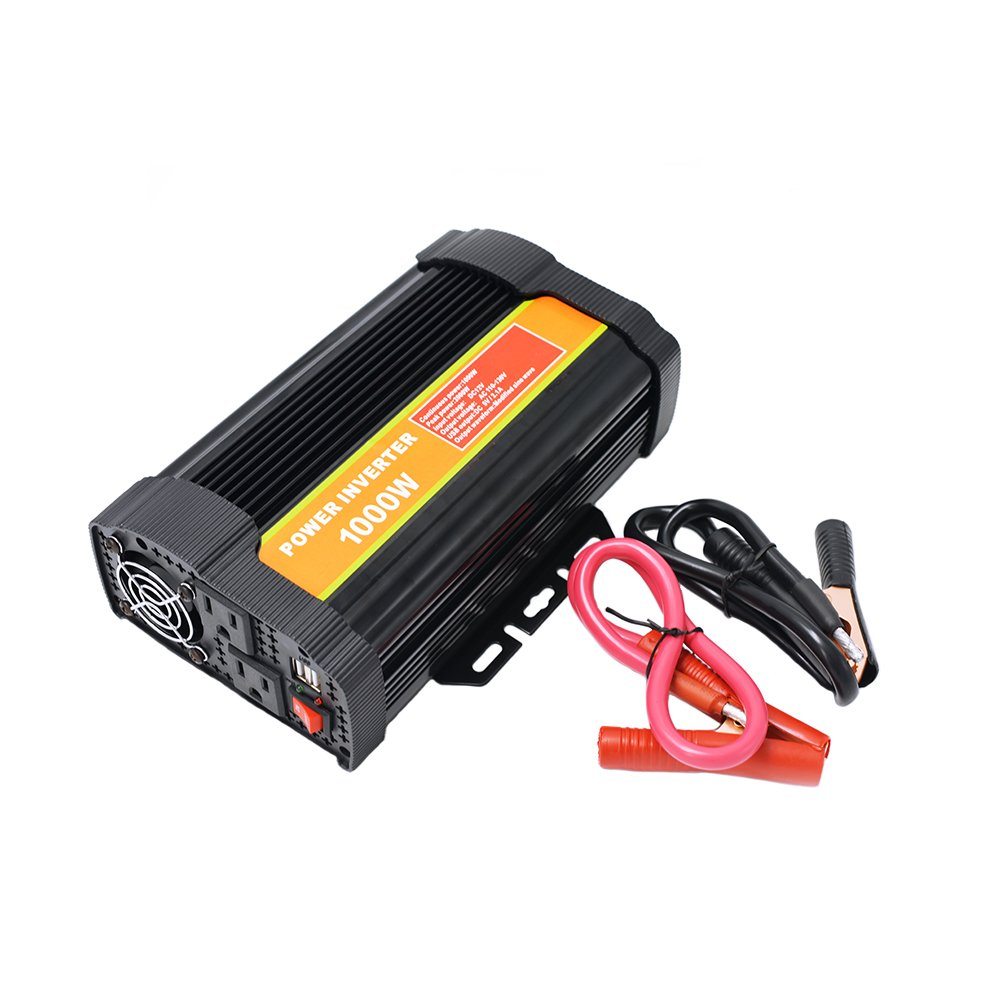 1000 Watt 12V Power Inverter Dual 110V AC Outlets with 2.1A Dual USB Car Adapter for Blenders, Vacuums, Power Tools. by SPEAUTO (Image #1)