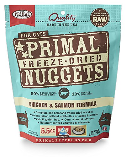 Primal Pet Foods Freeze-Dried Feline Chicken and Salmon Formula 5.5 oz (Raw Pet Foods)
