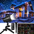 Christmas Projector Lights, Comkes 15 Patterns LED Projector Lights Waterproof Dynamic Outdoor Christmas Lights Spotlights Decoration for Christmas, Halloween, Birthday, Valentine's Day, Wedding,Party