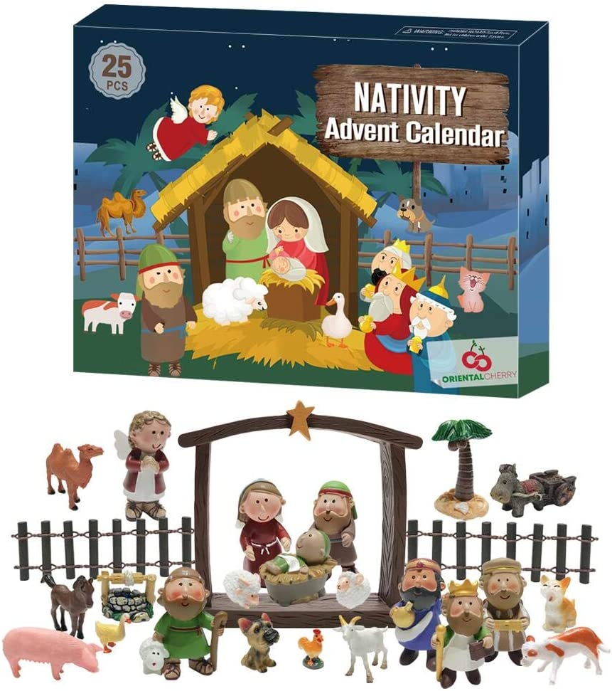 Christmas Manger 2020 Amazon.com: ORIENTAL CHERRY Advent Calendar 2020 25 Days of