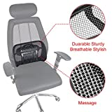 Lumbar Support Mesh,Vekey Back Support Mesh Back Cushion Breathable Comfortable Adjustable for All Types Car Seat Office Chair (Mesh Fiber, Standard)
