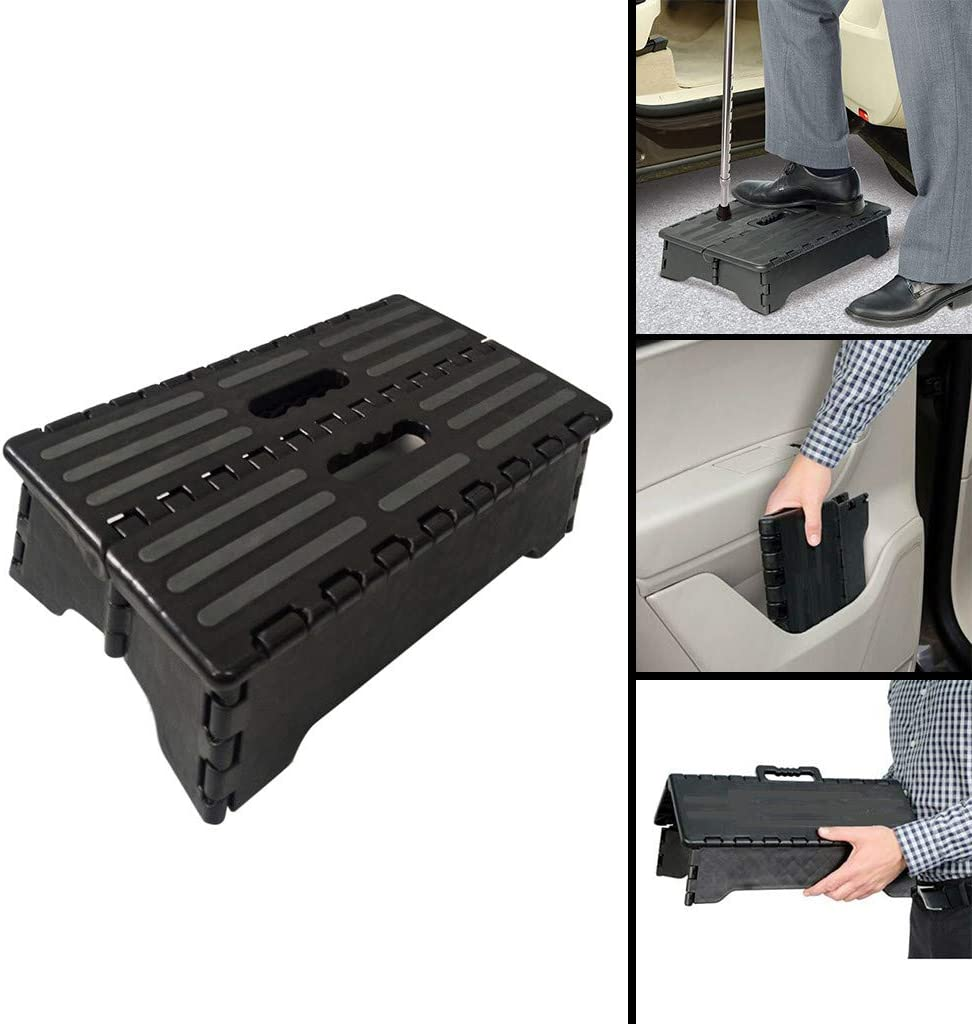 Giokfine 2019 Portable Folding Step Up Stool Car Height Boost Elder Adult Kid Child