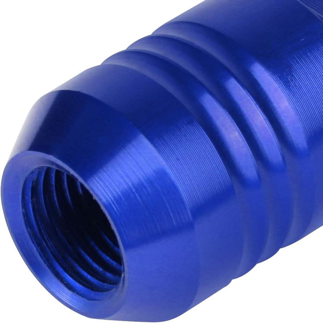 Blue J2 Engineering 20Pcs M12 x 1.25 7075-T6 Aluminum 50mm Close-End Lug Nut w//Socket Adapter Key