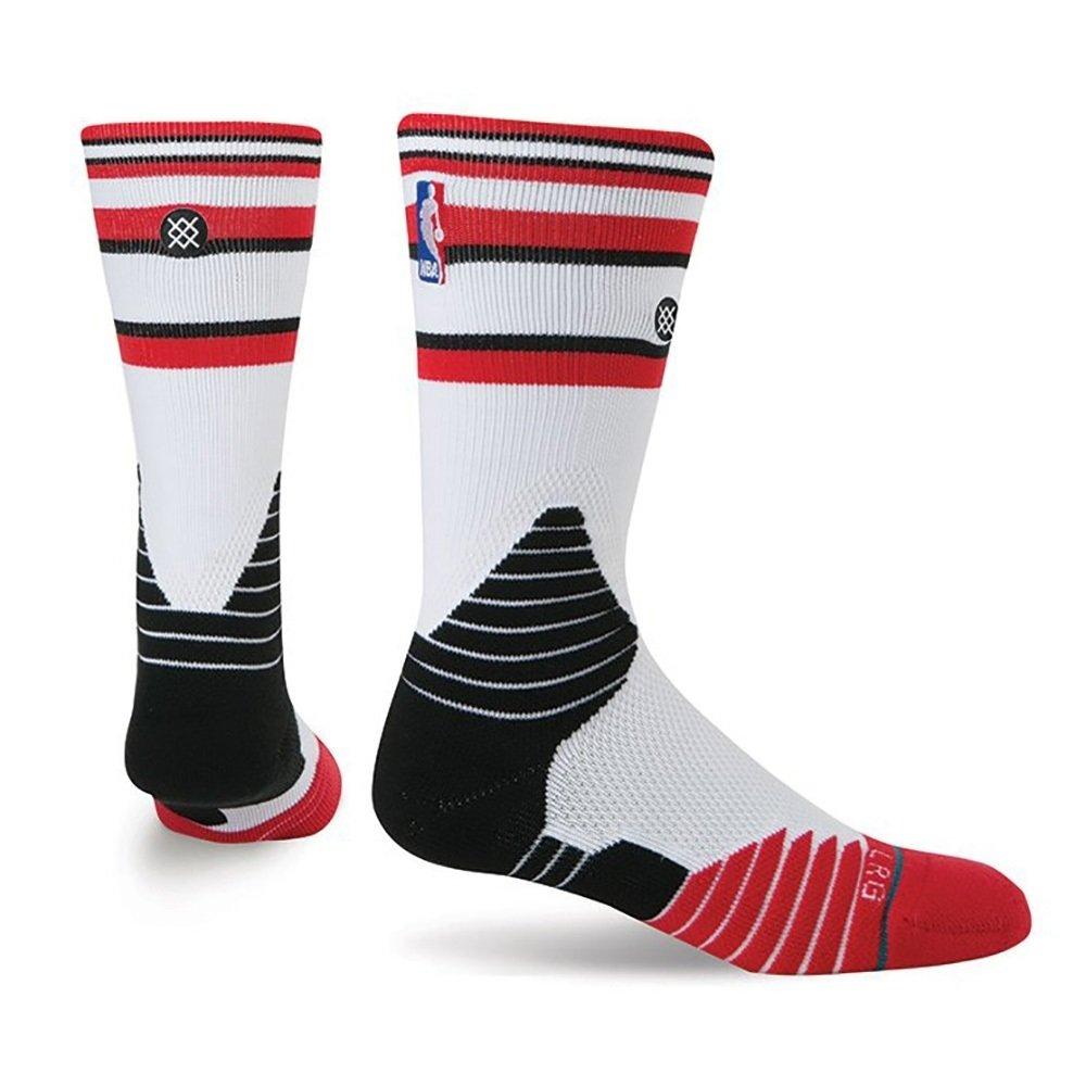 Stance calcetines de núcleo de la NBA Chicago Bulls pista blanco ...