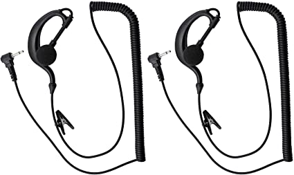 abcGoodefg 3.5mm Receiver//Listen Only Earpiece Headsets Surveillance Earphones with Acoustic Tube for 2 Way Radio Transceivers and Speaker Mic 5 Pack