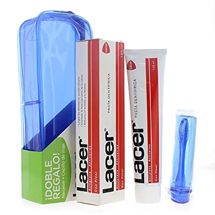 Lacer Pasta Dental Fluor, Cepillo y Neceser - 1 pack