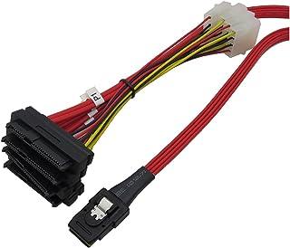TOOGOO Sas 36P Sff8087 A 4 X Sff 8482 29P Sas Con Cavo Power Rosso 1M