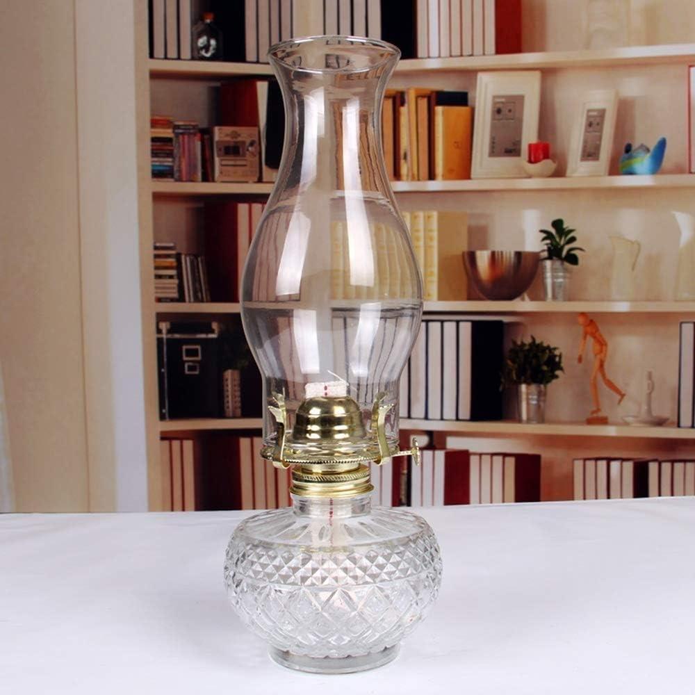 GCMJ Lamparas De Aceite Candil De Aceite Caballos De Cristal Nostálgica Linterna For Familias De Lámpara Que Acampa