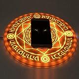 ワイヤレス充電器 魔法陣充電器 LED 円形 5W/10W 六芒星 魔術 USB無線充電器 急速 置くだけ充電 高兼用性 軽量 (10W)