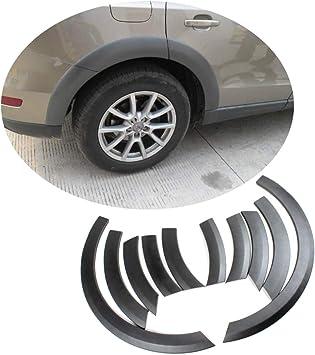 "4 Pcs 10/"" Carbon Diffuser Flare Lip Protector Trim For BMW Audi Wheel Fender"