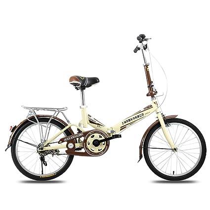 XQ F300 Bicicleta Plegable Adulto Hembra 20 Pulgadas Ultralight Portátil Estudiante Bicicleta para Niños (Color : 2): Amazon.es: Deportes y aire libre