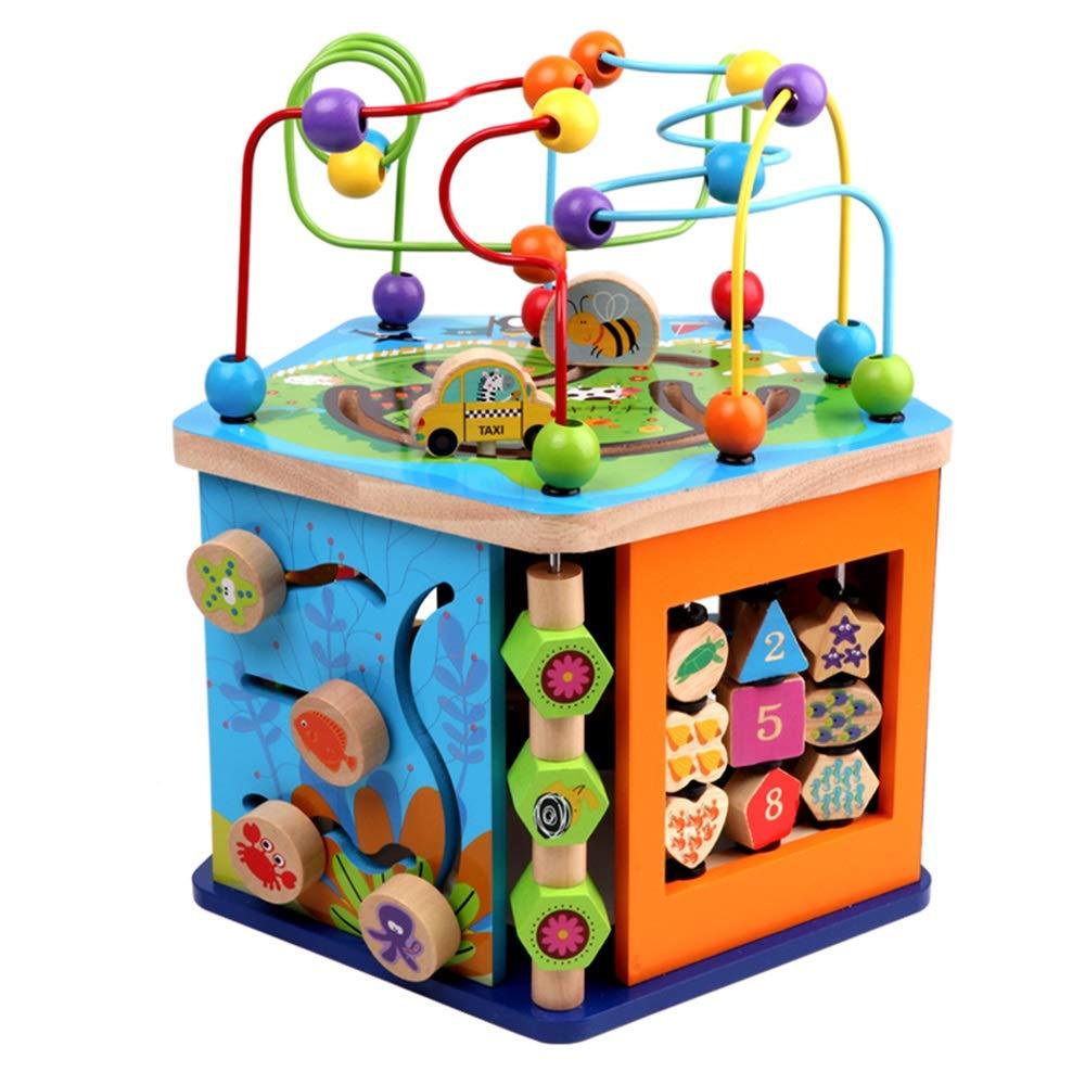 Juguetes para Bebés FEI 8 en 1 Juguetes educativos Multiusos de Actividades de Madera para niños de 1 año Centro de Actividades para niños, niñas y niños