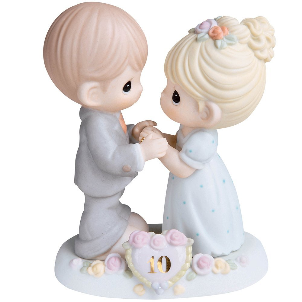 Precious Moments,  A Decade Of Dreams Come True - 10th Anniversary, Bisque Porcelain Figurine, 730007