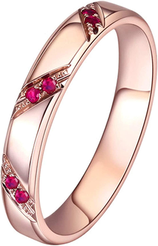 KnSam Joyas-Amor por Siempre&Anillos de Compromiso de Oro 18K Anillo de Diamante 1.3CT de 18K de Oro Anillo de Oro Rosa de la Talla de 6,75-25