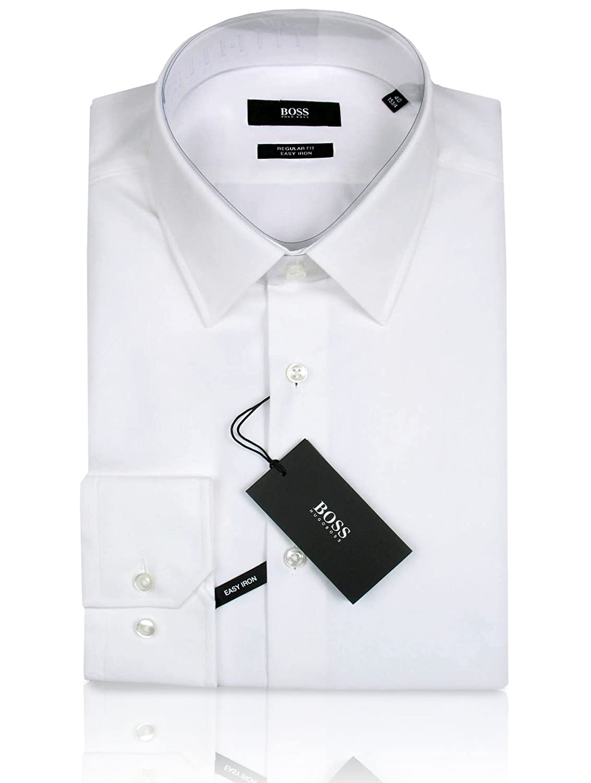 efffdfae0568 BOSS Hugo Business-Hemd   Enzo (Regular Fit) schwarz hellblau weiß 100%  Baumwolle  Amazon.de  Bekleidung