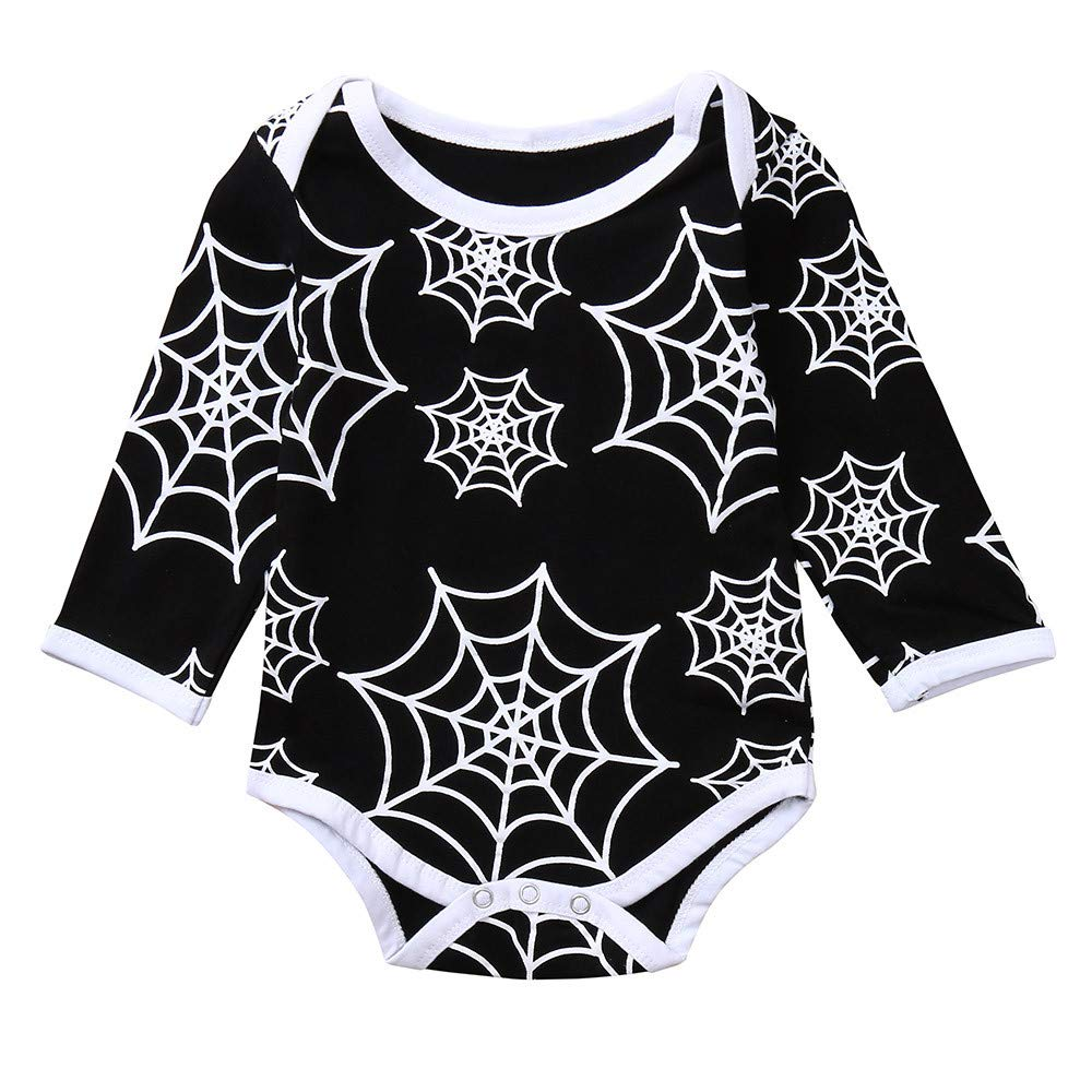 LANSKIRT Ropa para Recién Nacido Infantil bebé niños Impresión de Tela de araña de Manga Larga Onesies Ropa de Halloween Invierno: Amazon.es: Ropa y ...