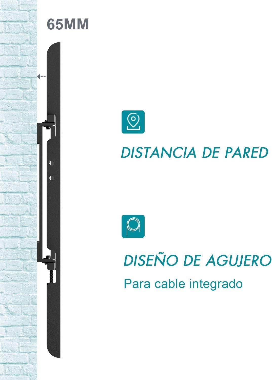 Famgizmo Soporte de Pared Fijo para TV de 32-70 Pulgadas (81-178cm), VESA 100x100-600x400mm, Carga hasta 95kg, para Televisores de Pantalla Plana LED LCD Plasma Curvada, Nivel de Burbujas Incluido: Amazon.es: Electrónica