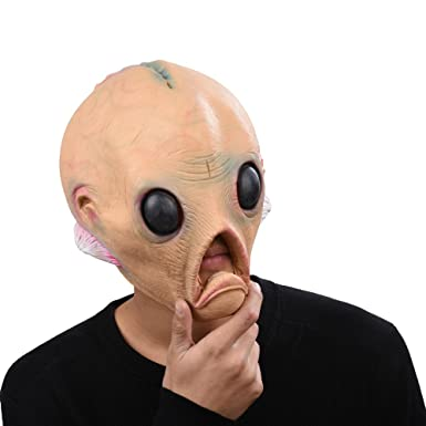 PARTY STORY Alien Latex Head Mask Halloween Novelty Costume Rubber Full Head Masks  sc 1 st  Amazon.com & Amazon.com: PARTY STORY Alien Latex Head Mask Halloween Novelty ...